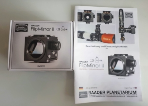 Baader Flip Mirror II packing box and instructions